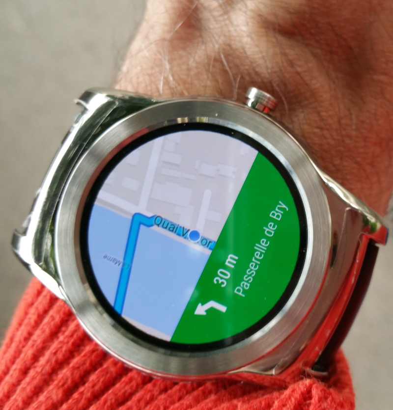Google Maps sur une montre Android Wear