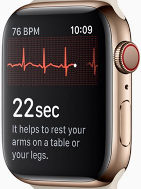 ECG sur Apple Watch