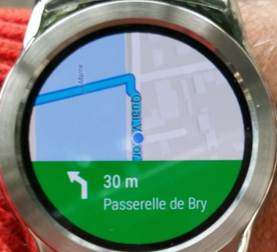 Google Maps sur Wear OS