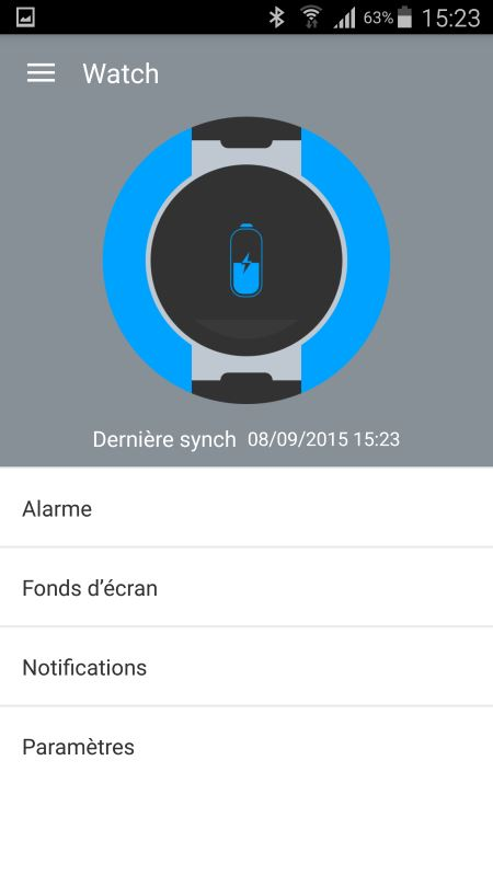 Alcatel OneTouch Watch (application Android 1)