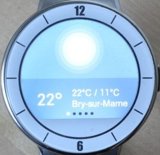 Alcatel OneTouch Watch (météo)