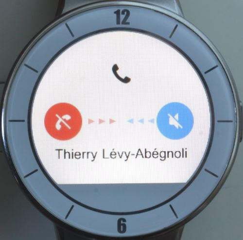 Alcatel OneTouch Watch (appel entrant)
