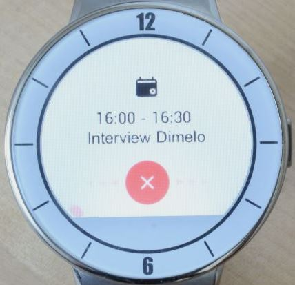 Alcatel OneTouch Watch (agenda)