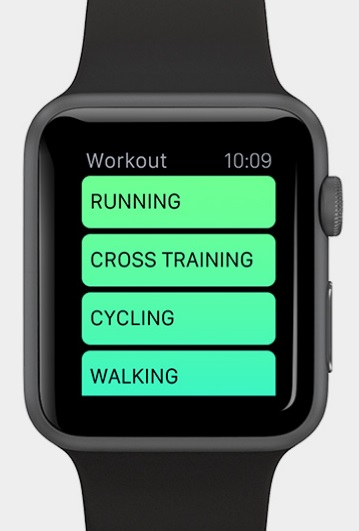 Apple Watch (Application Workout)