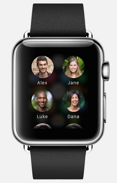 Apple Watch (gestion des contacts)