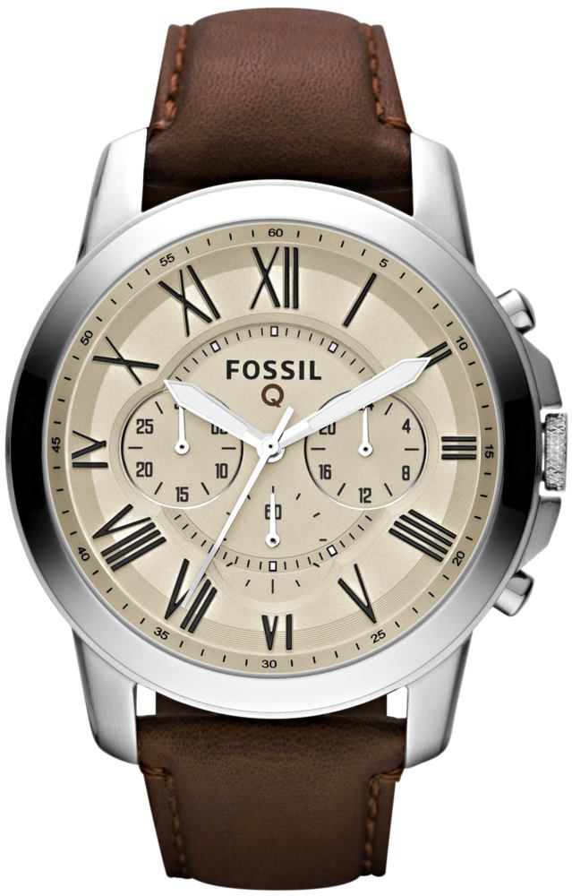 Fossil Grant (argent cuir)