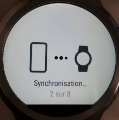 Fossil Q Founder (synchronisation)