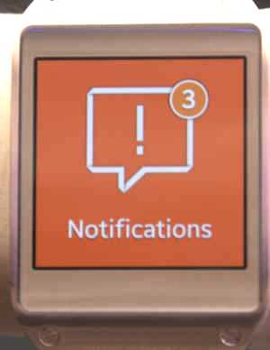 Notification sur Galaxy Gear