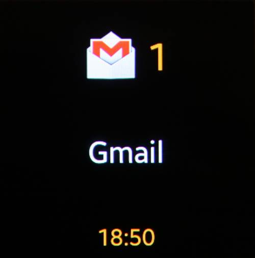 Galaxy Gear (notifications gmail)