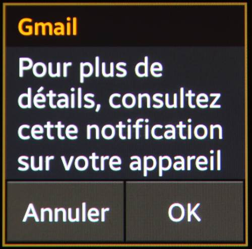 Galaxy Gear (notifications gmail, suite)