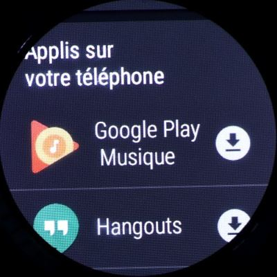 Huawei Watch 2 (applications présentes sur le smartphone)