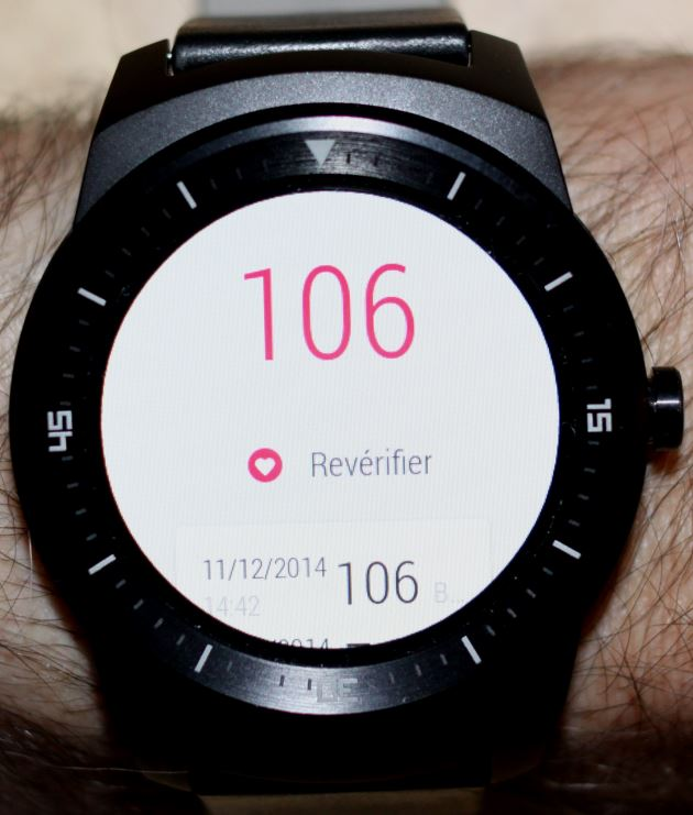 LG G Watch R (cardiofréquencemètre 2)