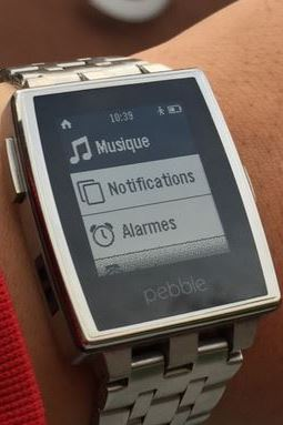 Interface Pebble en français