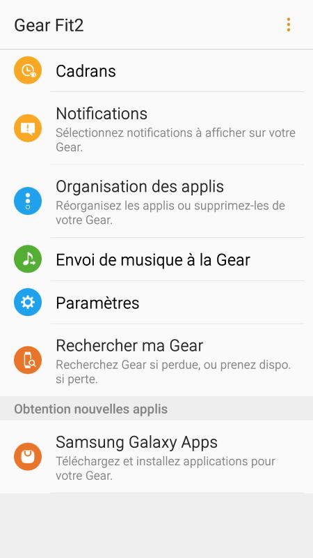 Gear Fit 2 (application Android 1)