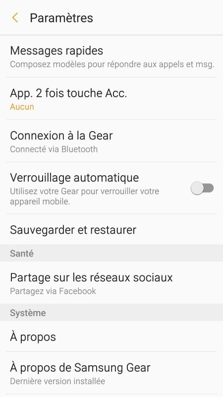 Gear Fit 2 (application Android 4)