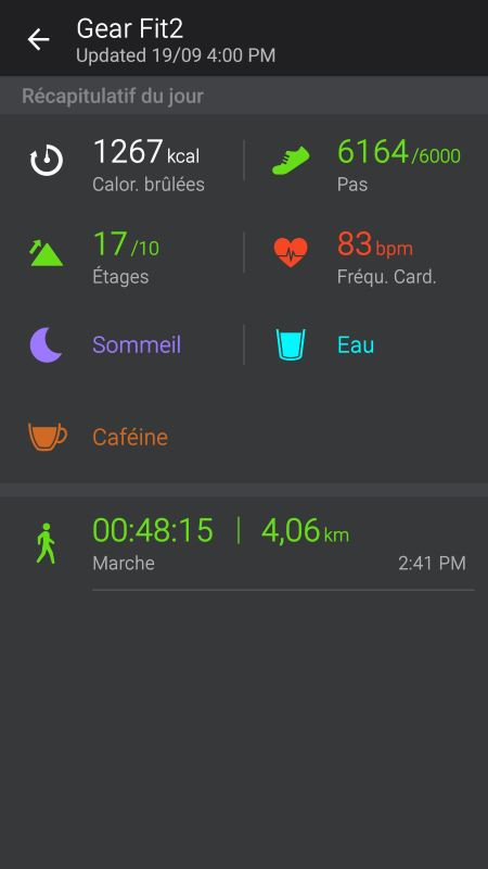 Gear Fit 2 exercice 4)