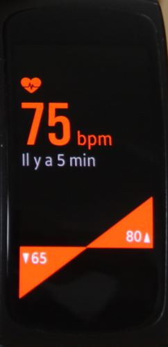 Samsung Geat Fit 2 (fréquence cardiaque)