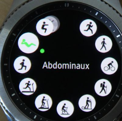Samsung Gear S3 (exercices)