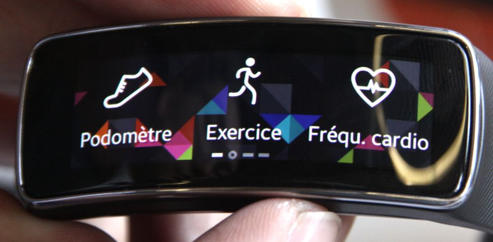 Samsung Gear Fit (coaching sportif)