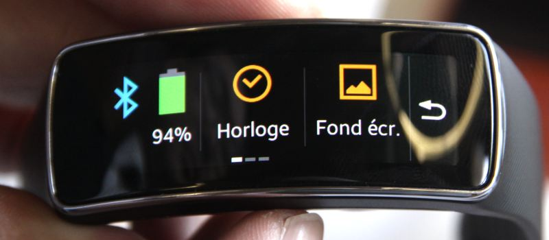 Samsung Gear Fit (écran)
