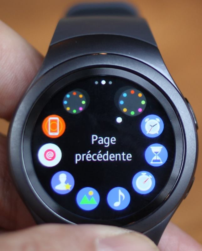 Samsung Gear S2 (pages d'apps)