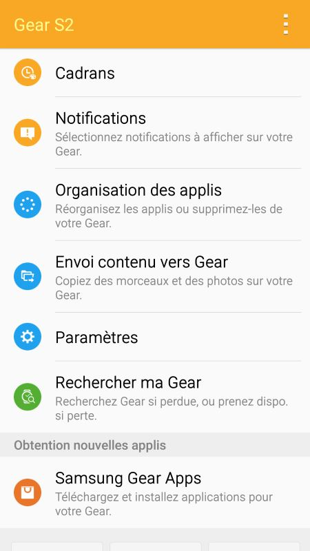 Samsung Gear S2 (application Android 6)