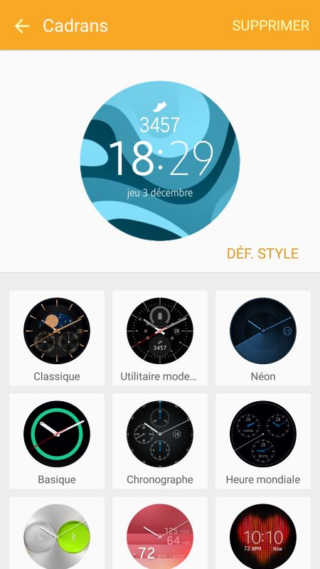 Samsung Gear S2 (application Android 8)