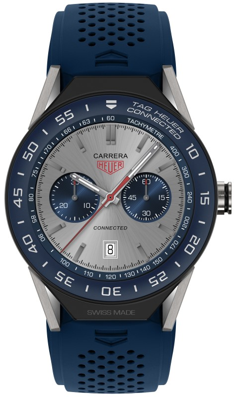Tag Heuer Connected Modular 45 (bleue)