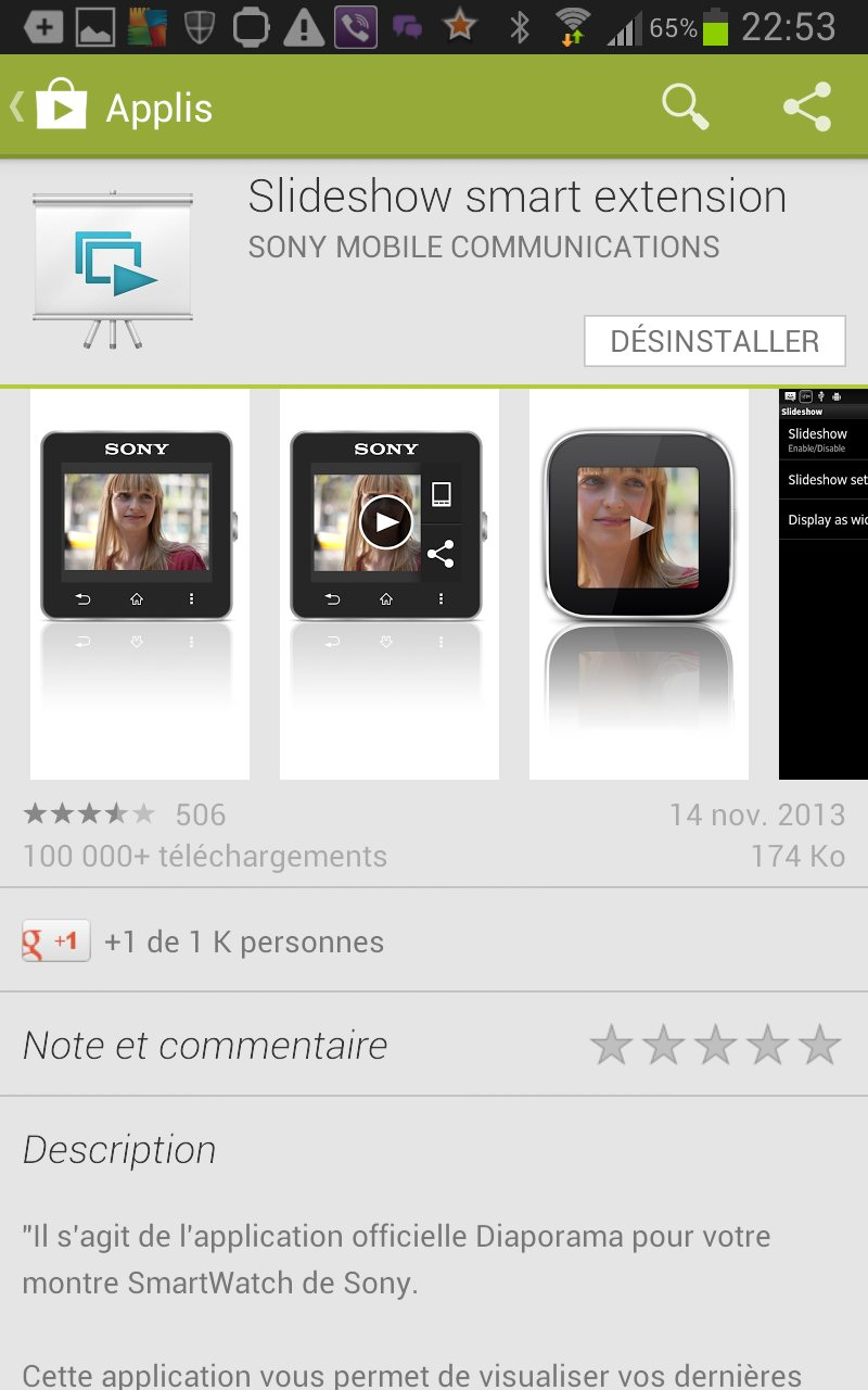 apps photo smartwatch 2 sur Galaxy Note