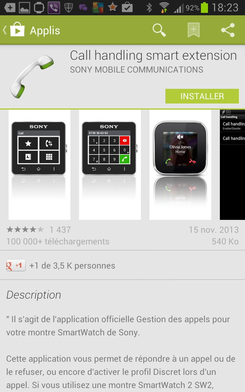 apps appels smartwatch 2 sur Galaxy Note