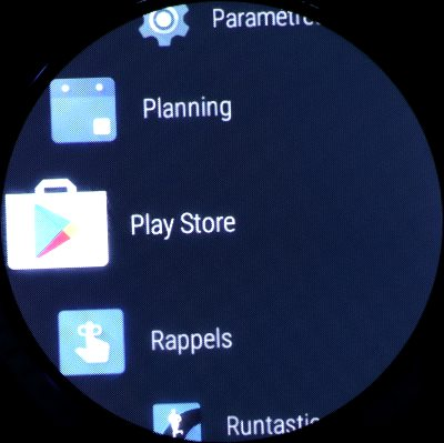 Google Play sur montre (1)
