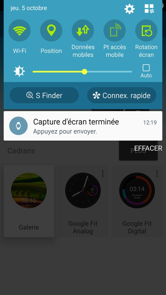 Capture d'écran sur Android Wear (2)