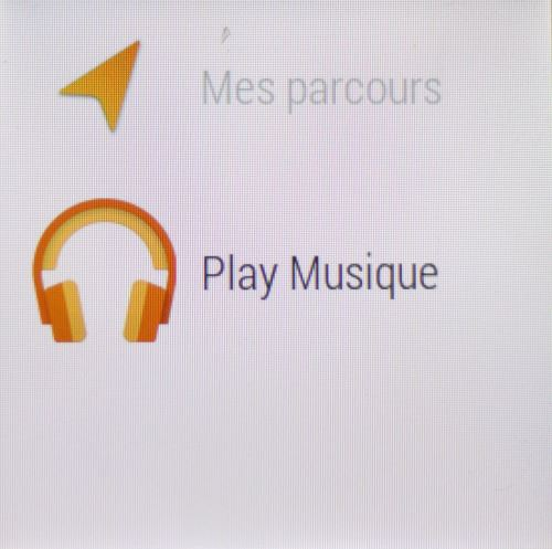 Android Wear (Play musique)