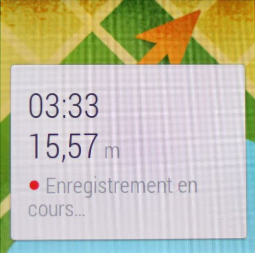 Android Wear (Mes parcours 2)