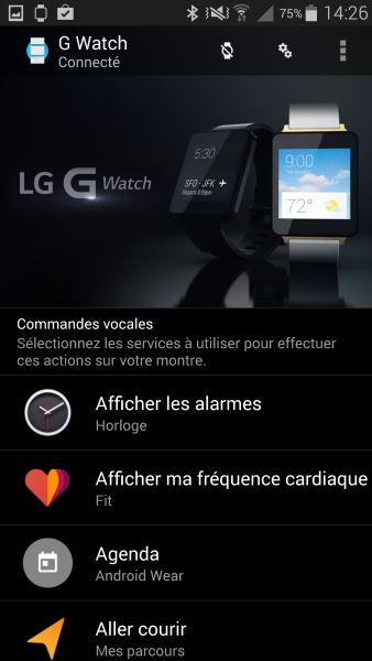 Applications Android Wear sur smartphone (1)