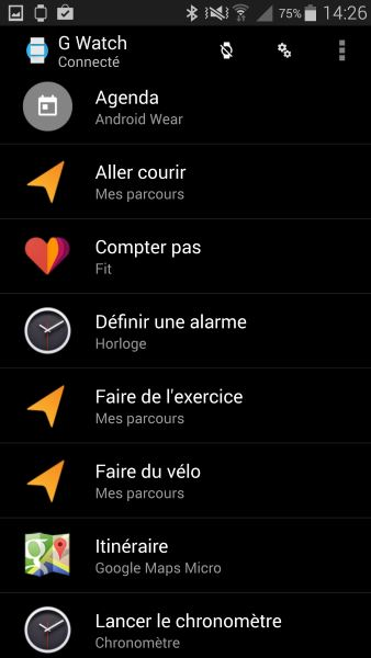 Applications Android Wear sur smartphone (2)