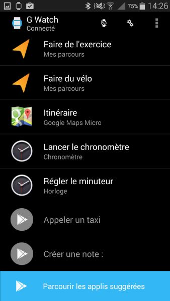 Applications Android Wear sur smartphone (3)