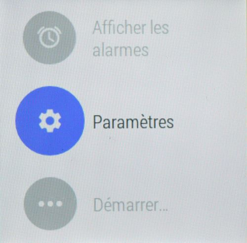Android Wear, paramètres (1)