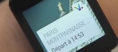 Application SNCF sur Android Wear